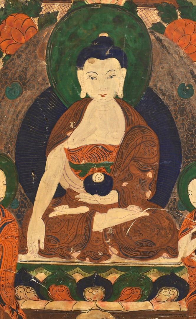Lot 4010075: Sino-Tibetan Thangka