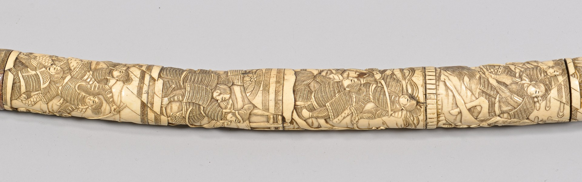 Lot 4010083: Japanese Sword w/ Carved Bone Scabbard