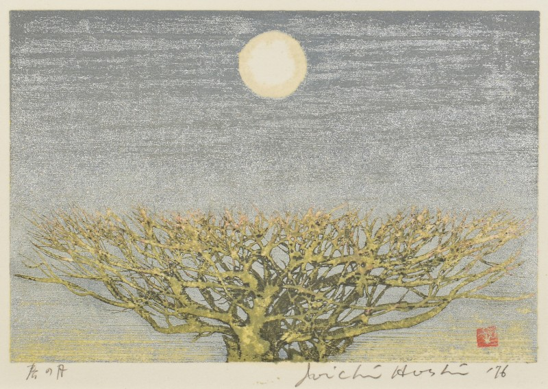 "Lot 4010092: Hoshi Colored Woodblock ""Spring Moon"""