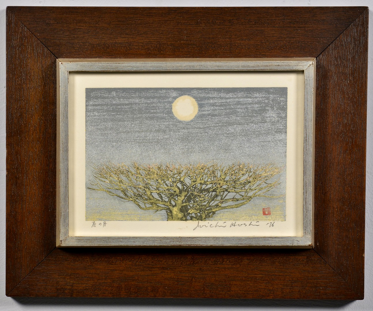 "Lot 4010092: Hoshi Colored Woodblock ""Spring Moon"""