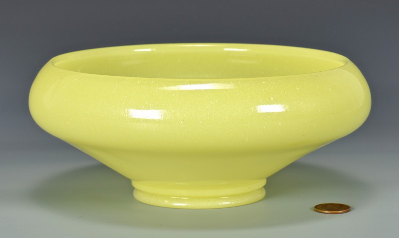 Lot 4010100: Peking or Beijing Yellow Glass Bowl