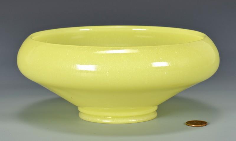 Lot 4010100: Peking or Beijing Yellow Glass Bowl
