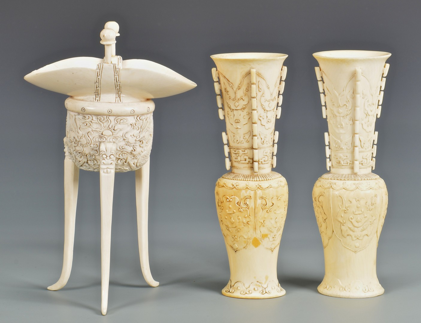 Lot 4010101: 5 Chinese Carved Ivory Decorative Items