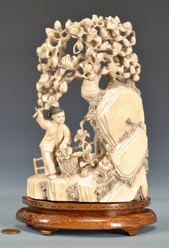 Lot 4010102: Cultural Revolution Figural Ivory,Third quarter of 20th century