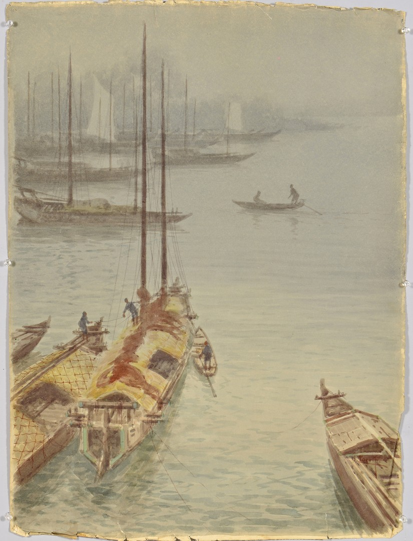Lot 4010116: 8 Japanese 20th Century Watercolor Landscapes