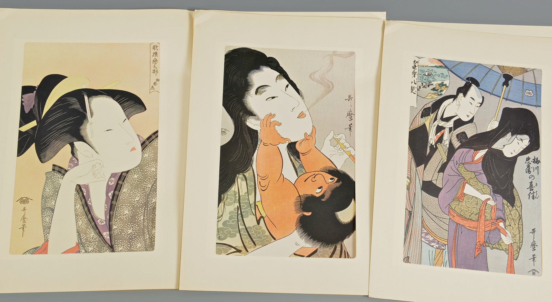 Lot 4010118: Utamaro, Ukiyo-e Hanga 24 Masterpieces & Others