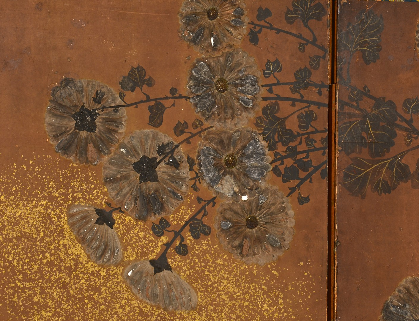 Lot 4010119: Painted Japanese Screen, Edo Period