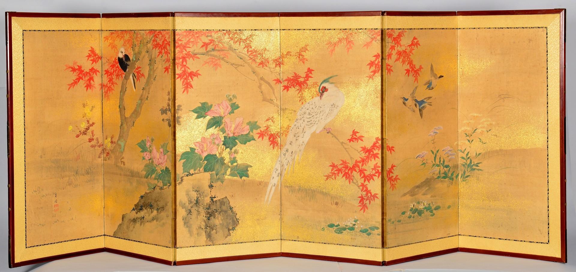 Lot 4010120: Japanese 6 Panel Screen