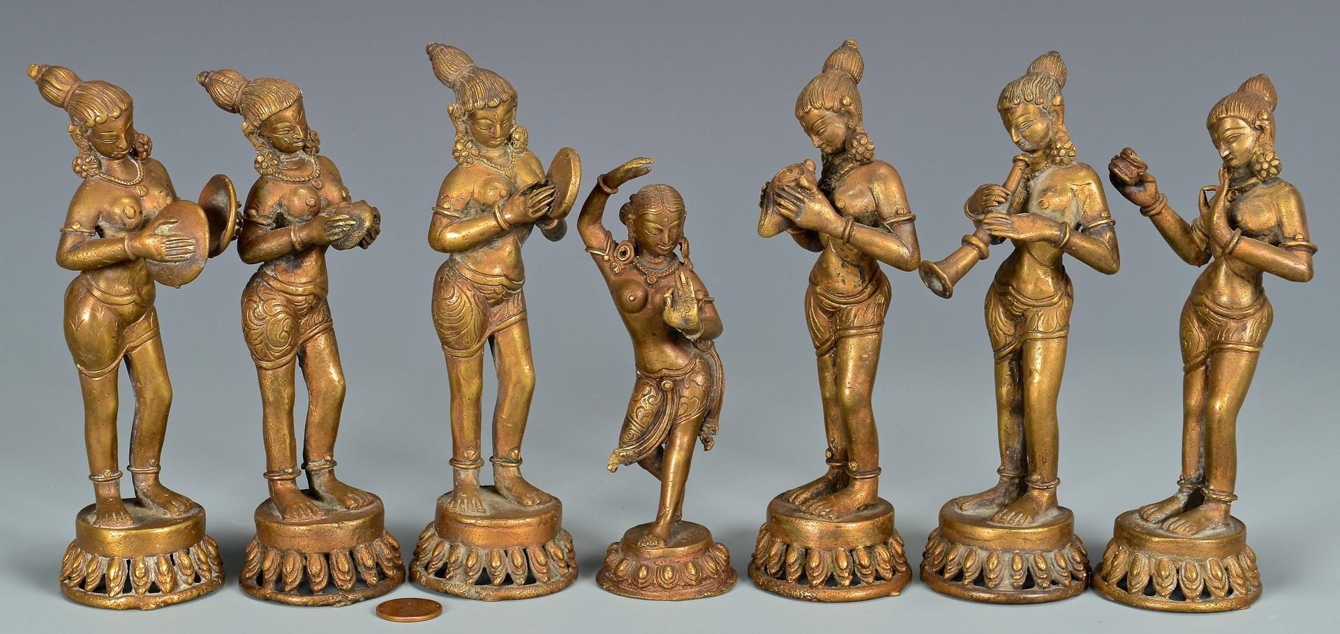 Lot 4010121: Collection of Bronze Tibetan Figures plus more