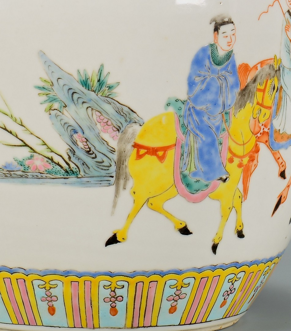 Lot 4010125: Chinese Famille Rose Ginger Jar w/ Immortals