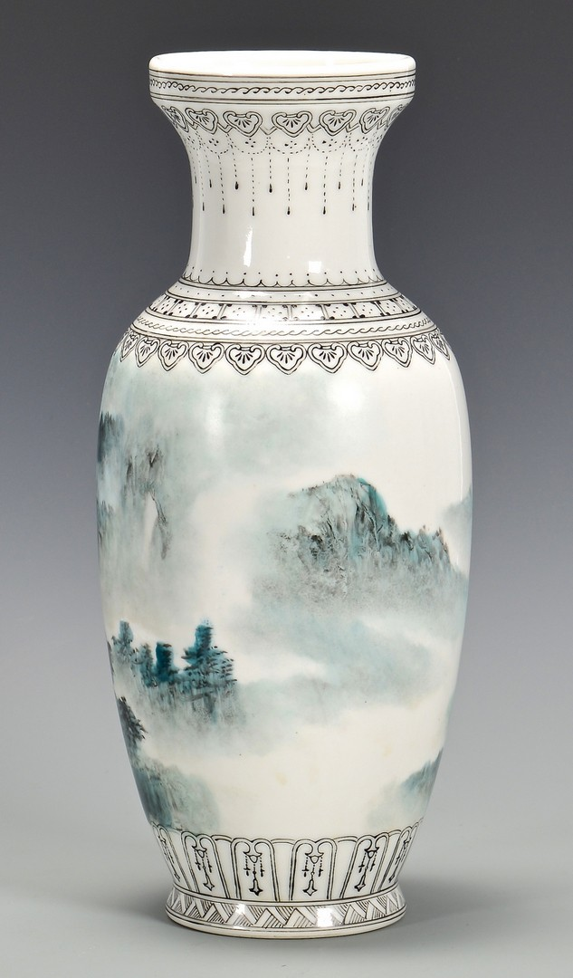 Lot 4010128: Chinese Republic Vase w/ Landscape