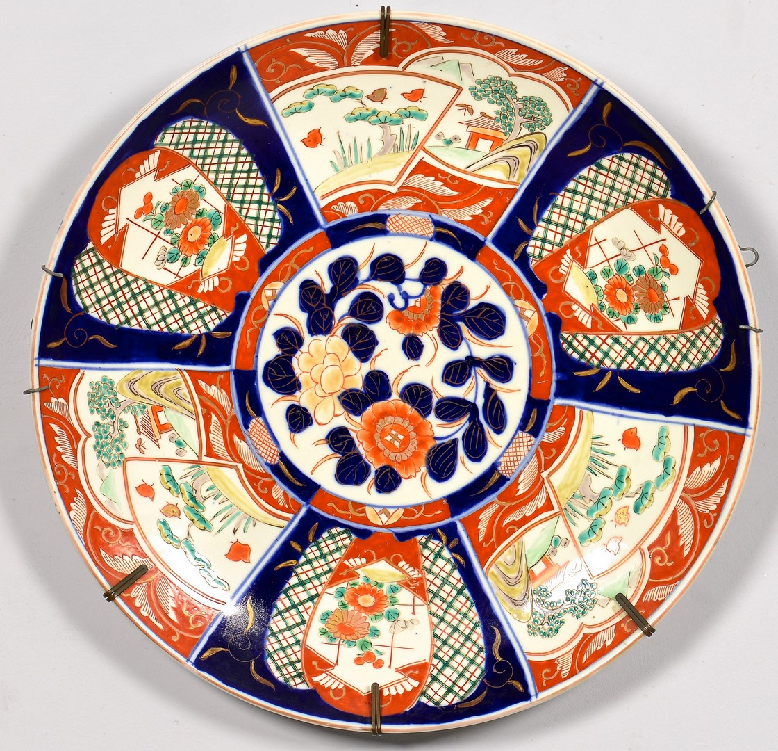Lot 4010135: 2 Japanese Imari Porcelain Chargers