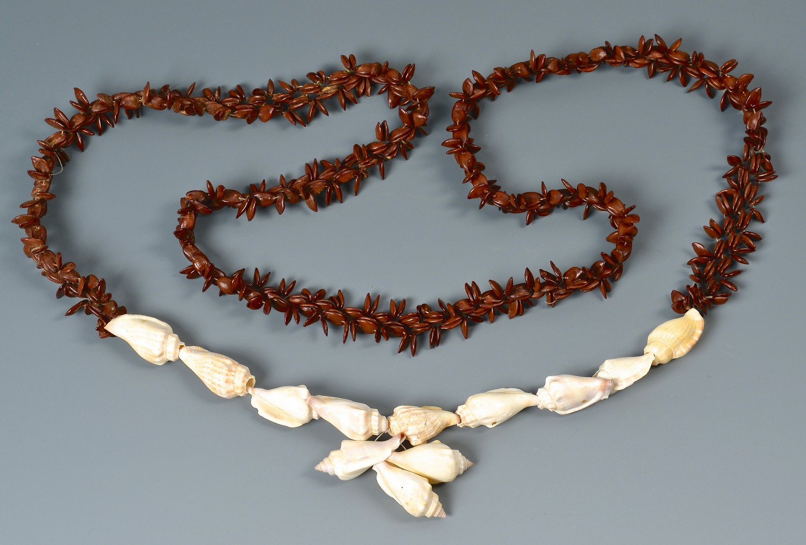 Lot 4010145: Group of 4 Carved Ethnic Necklaces