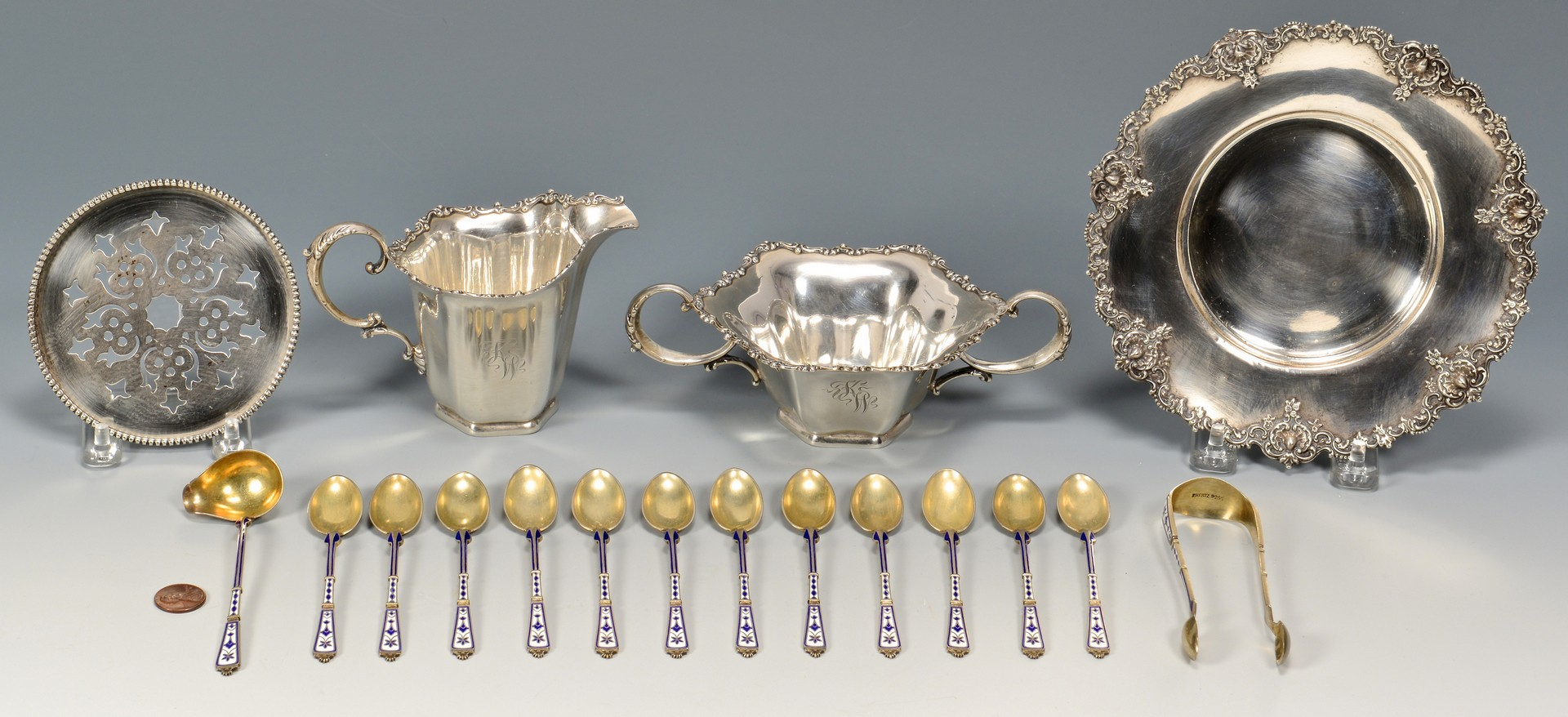 Lot 4010148: Am. & Danish Sterling plus miniatures