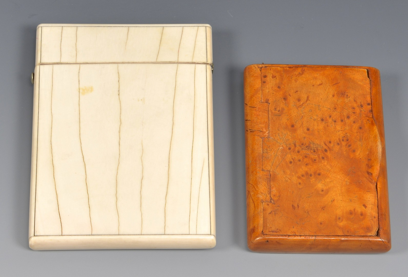 Lot 4010149: Ivory, Sterling & Burl Accessories