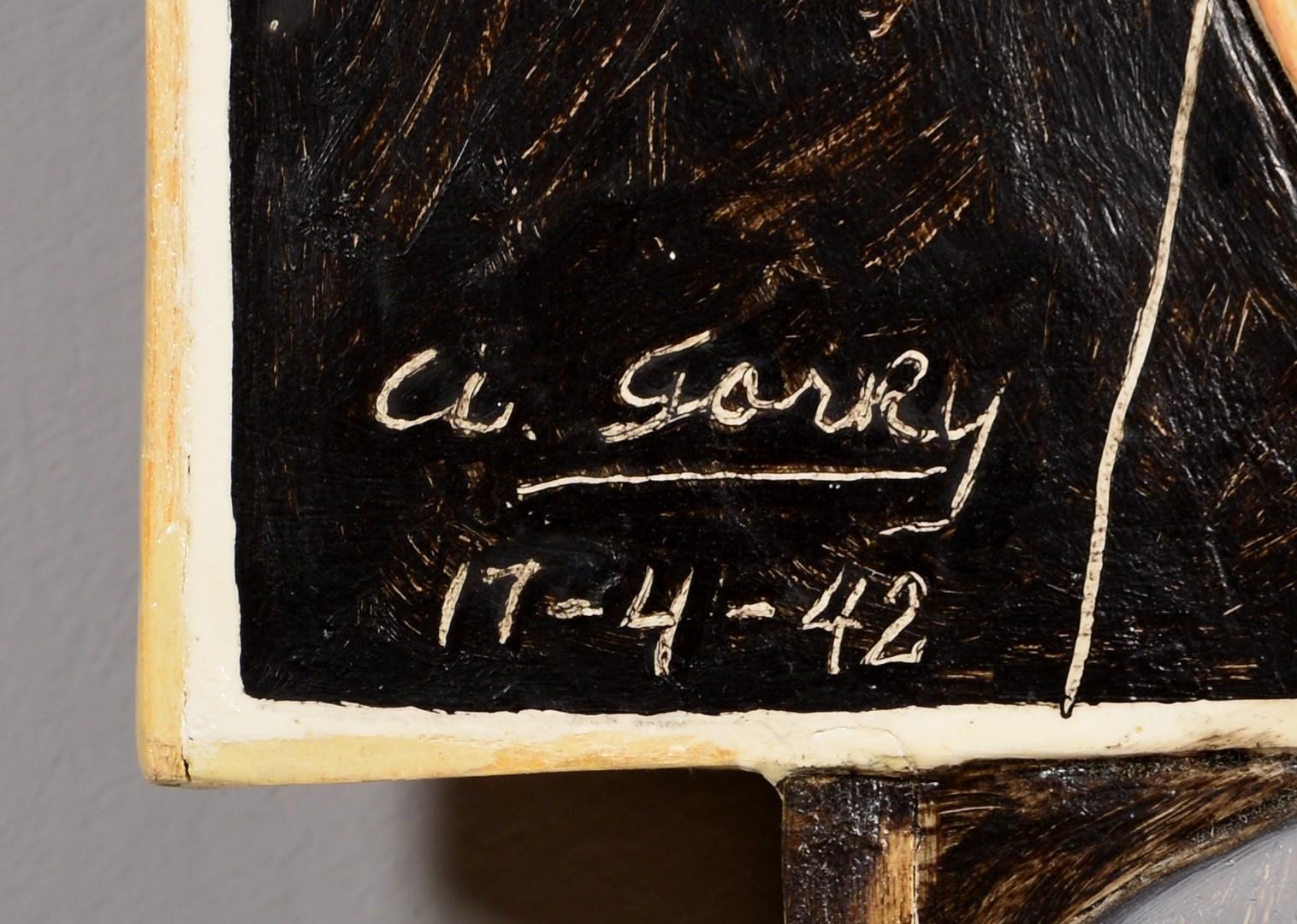 Lot 4010159: Jonathan Santlofer portraits: Gorky & Delaunays