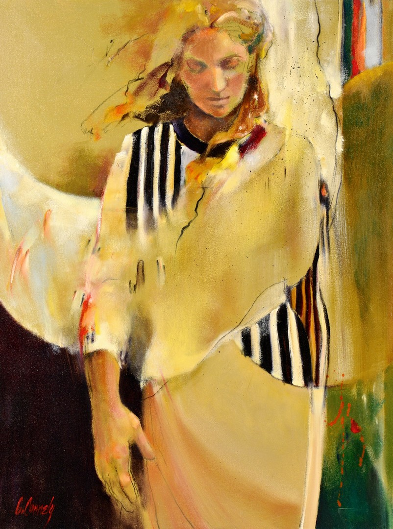 Lot 4010162: Carole Connely, Oil on Canvas, Woman