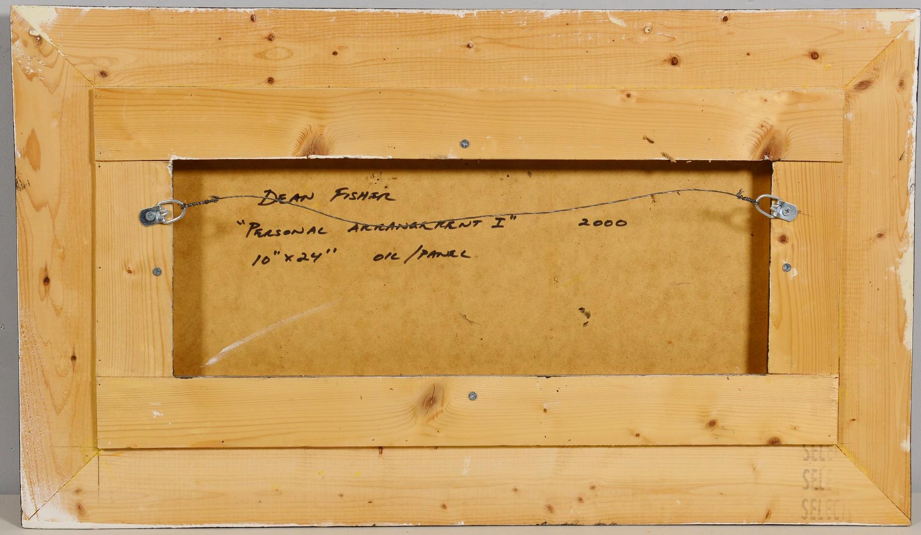Lot 4010163: Dean Fisher Oil on Board Still Life