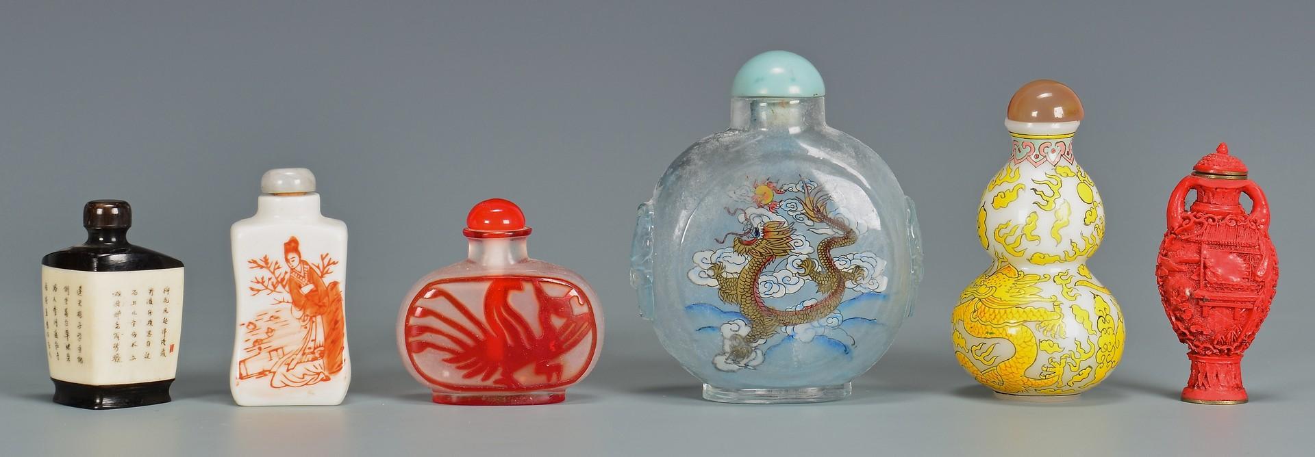 Lot 4010184: 6 assorted Asian snuff bottles