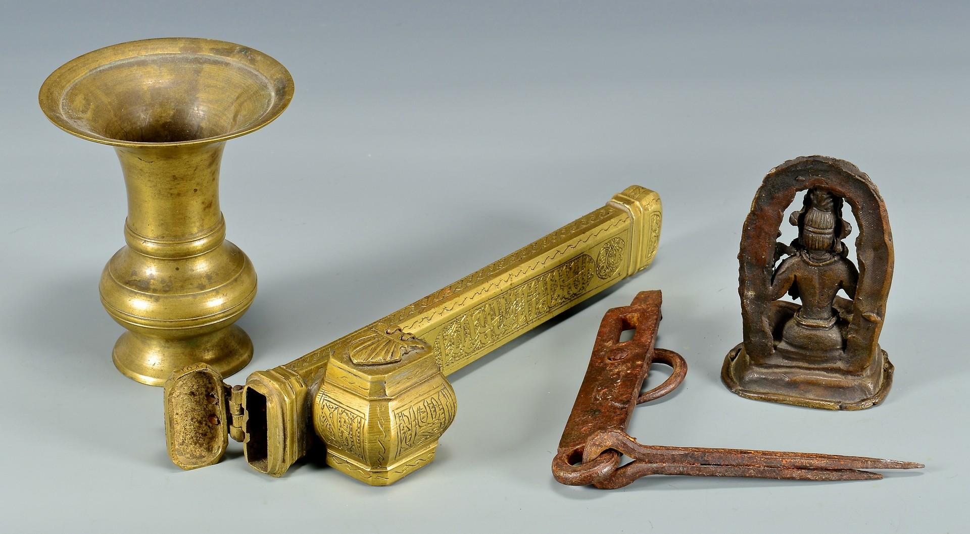 Lot 4010187: Group of Asian Metal Items, 8 pcs.