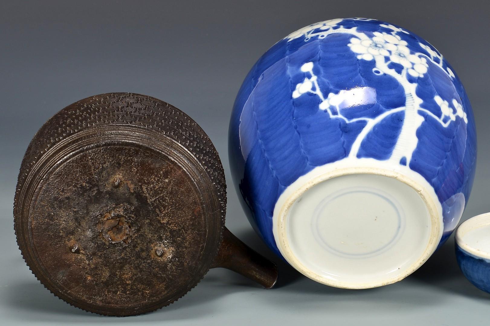 Lot 4010188: Assorted Asian items inc. petrified wood