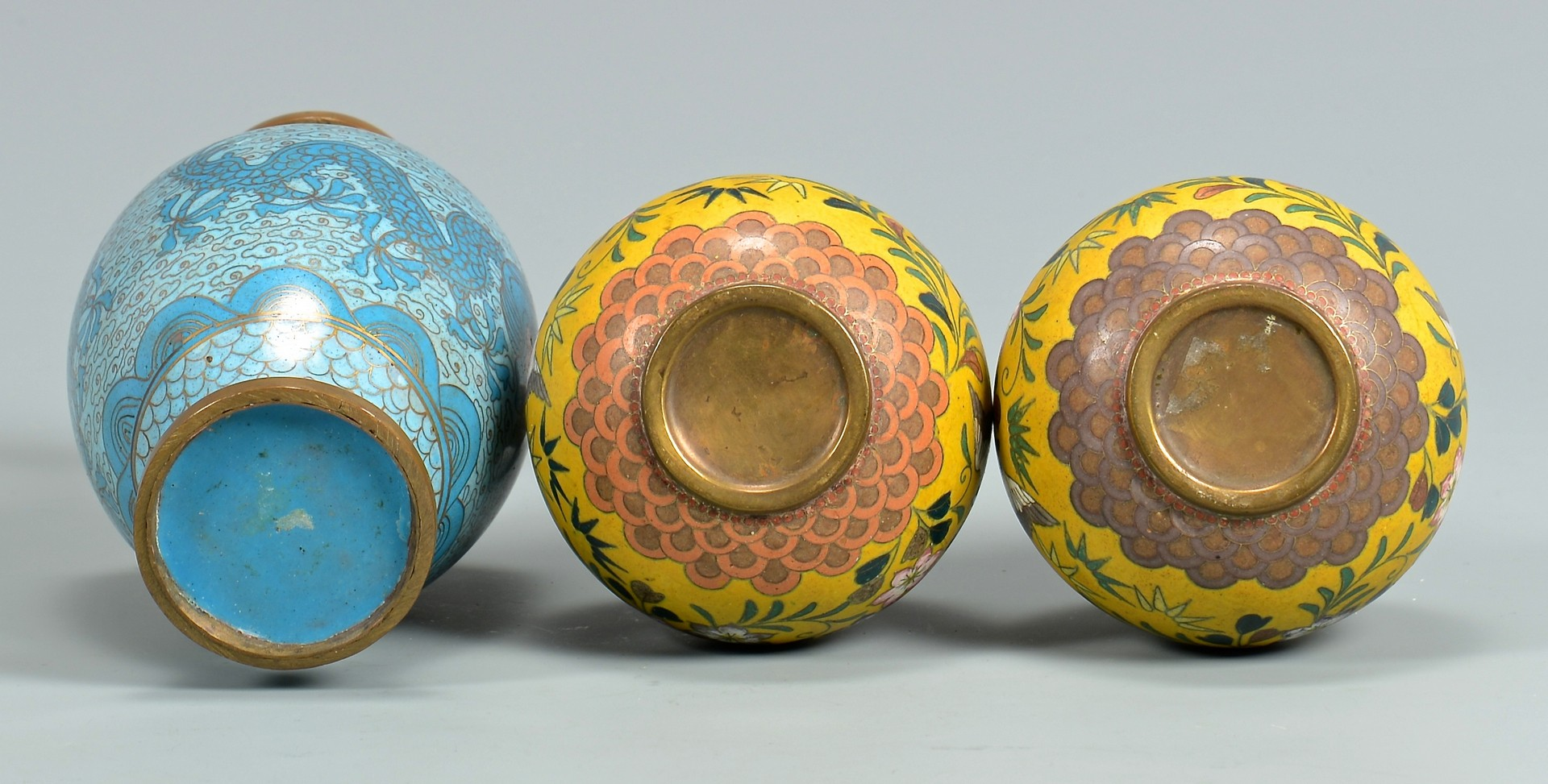 Lot 4010193: Group of 6 Cloisonne Enameled items