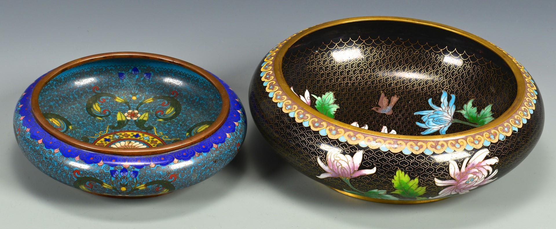 Lot 4010197: 6 pcs Cloisonne inc. 2 bulb bowls