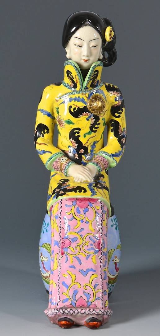 Lot 4010203: Chinese Porcelain & Carved Figures and Kuang Hsu Vase