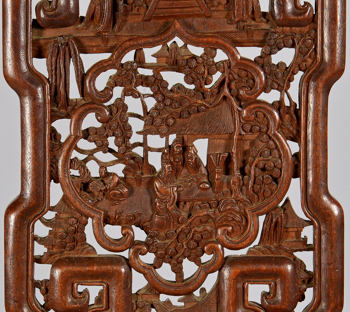 Lot 4010207: Chinese Carved Hardwood Side Chair
