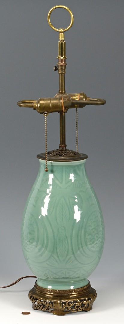Lot 4010208: Chinese Celadon Lamp
