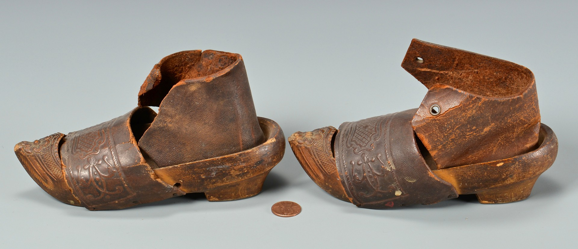Lot 4010210: Japanese Meiji Copper Yatate, Pr. Chinese Binding Shoes & More, 6 items