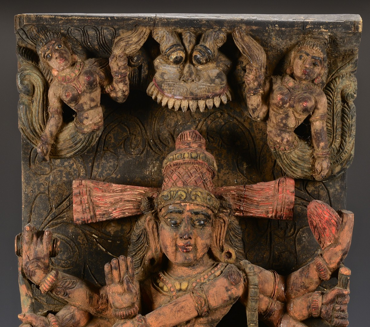 Lot 4010217: Asian Carved Architectural Panel