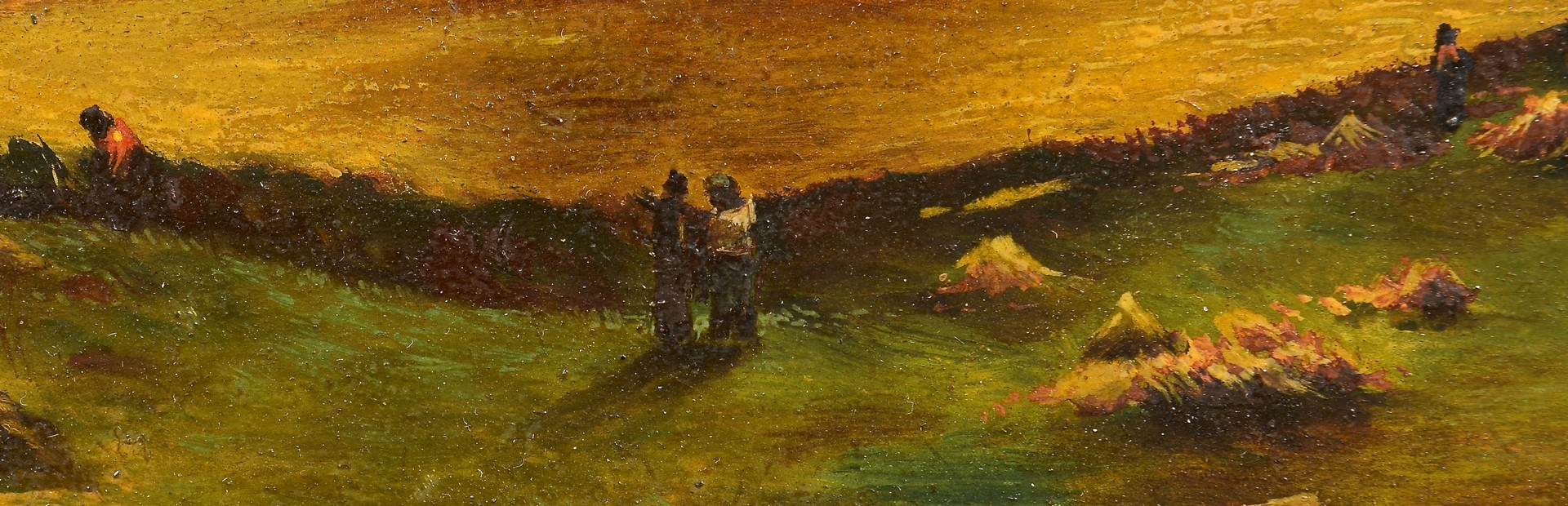 Lot 4010220: Gandenberger oil on board farm landscape