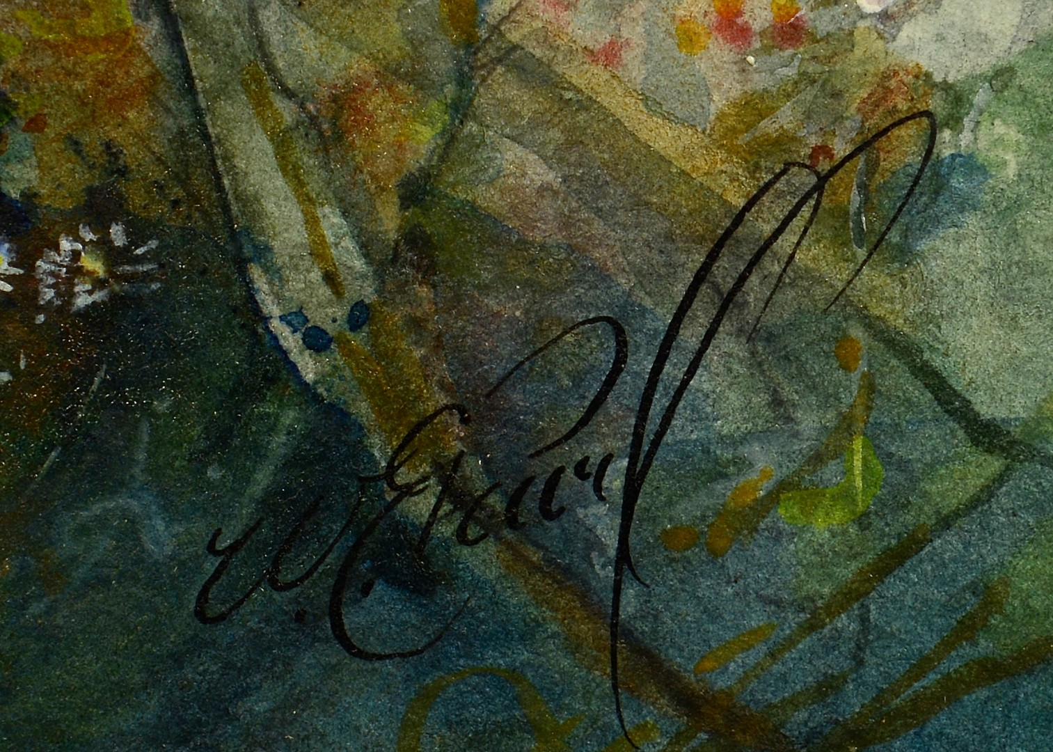Lot 4010222: 2 Watercolors: Thornton and Pearl