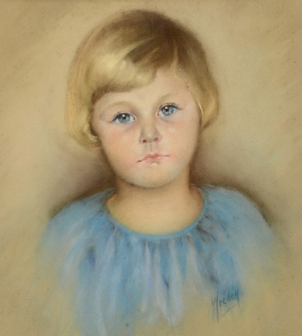 Lot 4010226: Two 20th Century Pastel Portraits