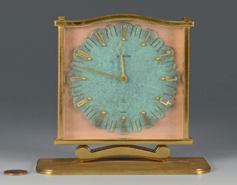 Lot 4010229: Le Coultre Art Deco Clock