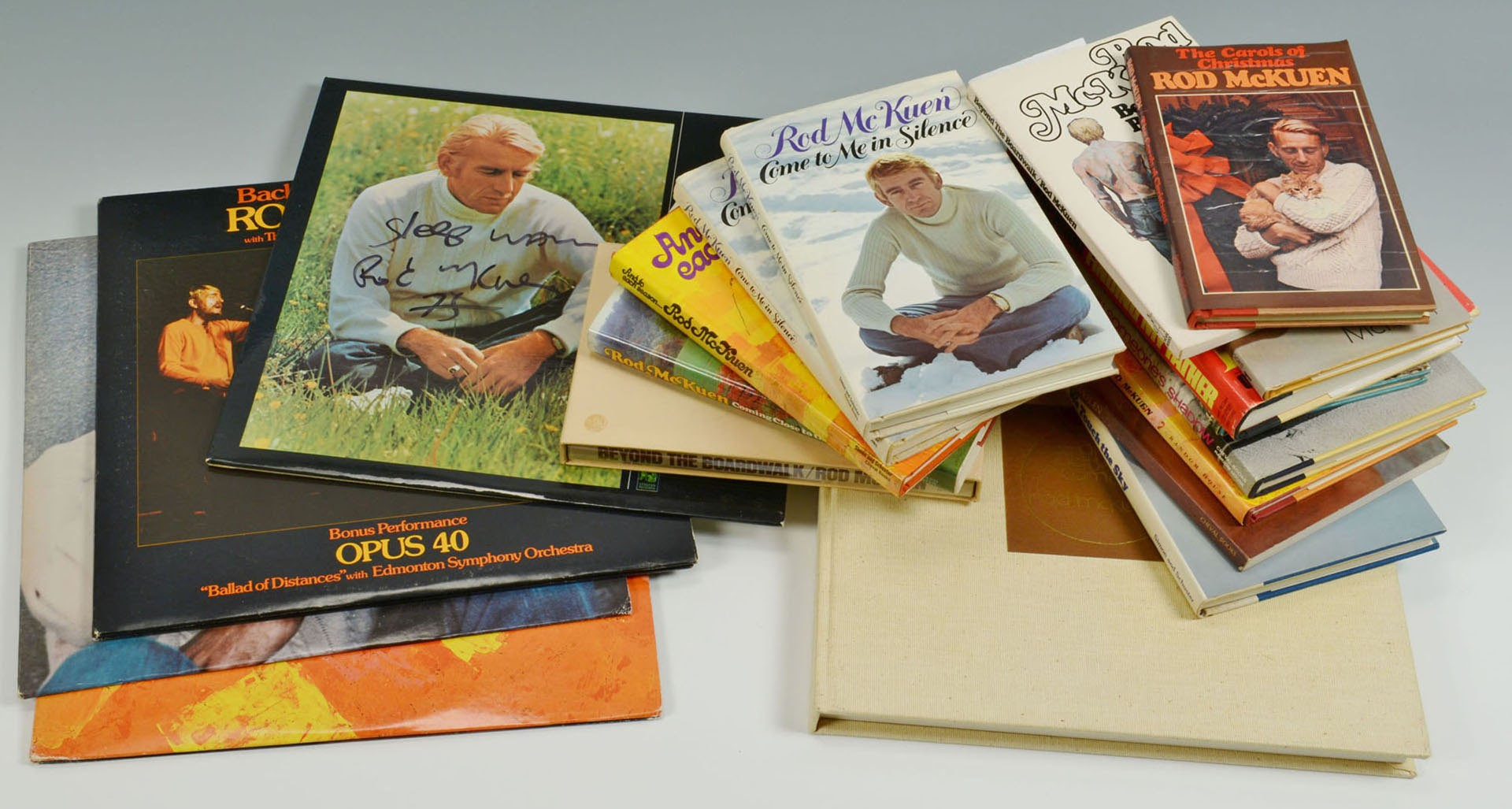 Lot 4010231: Collection of Rod McKuen albums & first edition book