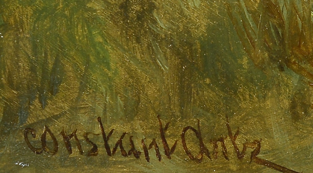 Lot 100: Constant Artz, Dutch Oil on Board