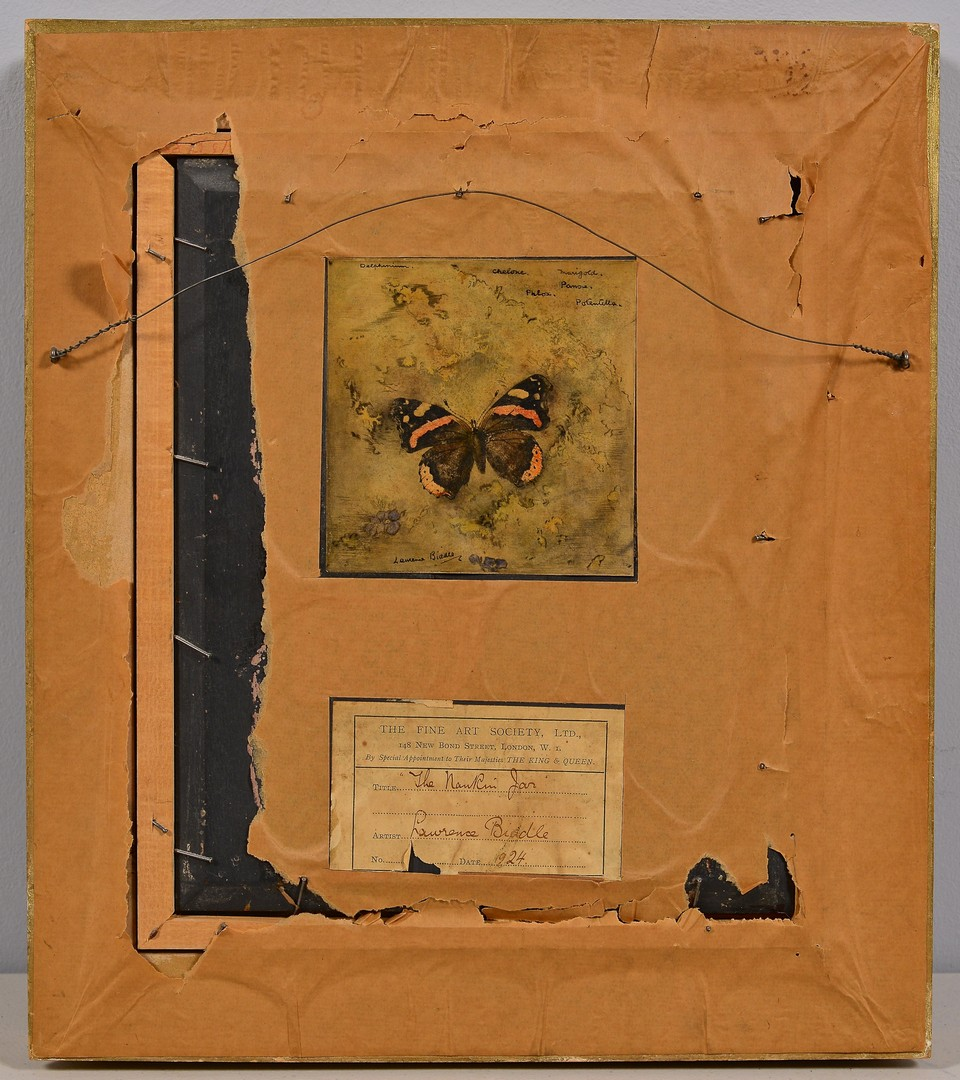 "Lot 101: Laurence Biddle Oil on Board Still Life, ""Nankin G"