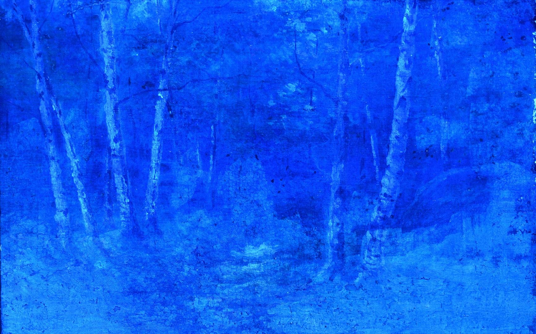 Lot 102: Attr. Efim Volkov, o/c wooded landscape
