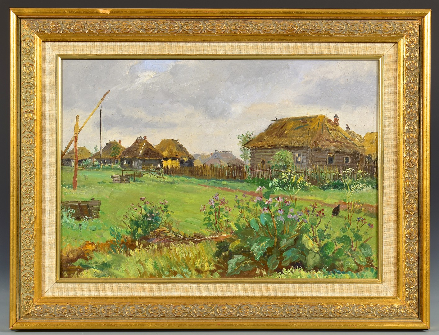Lot 103: Vasily Borisenkov Oil on Board