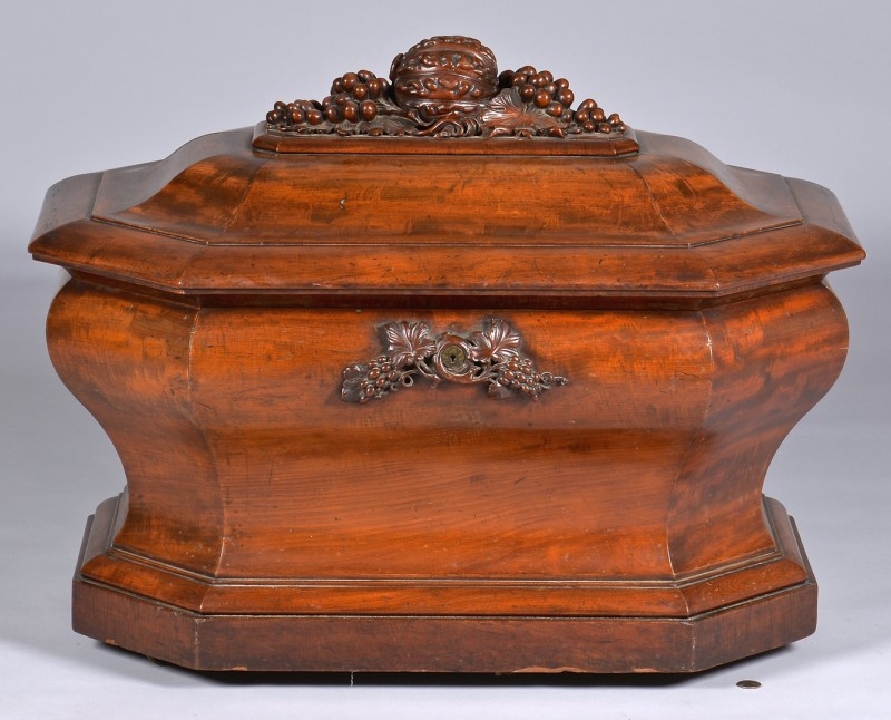 Lot 104: Irish Mahogany Cellarette