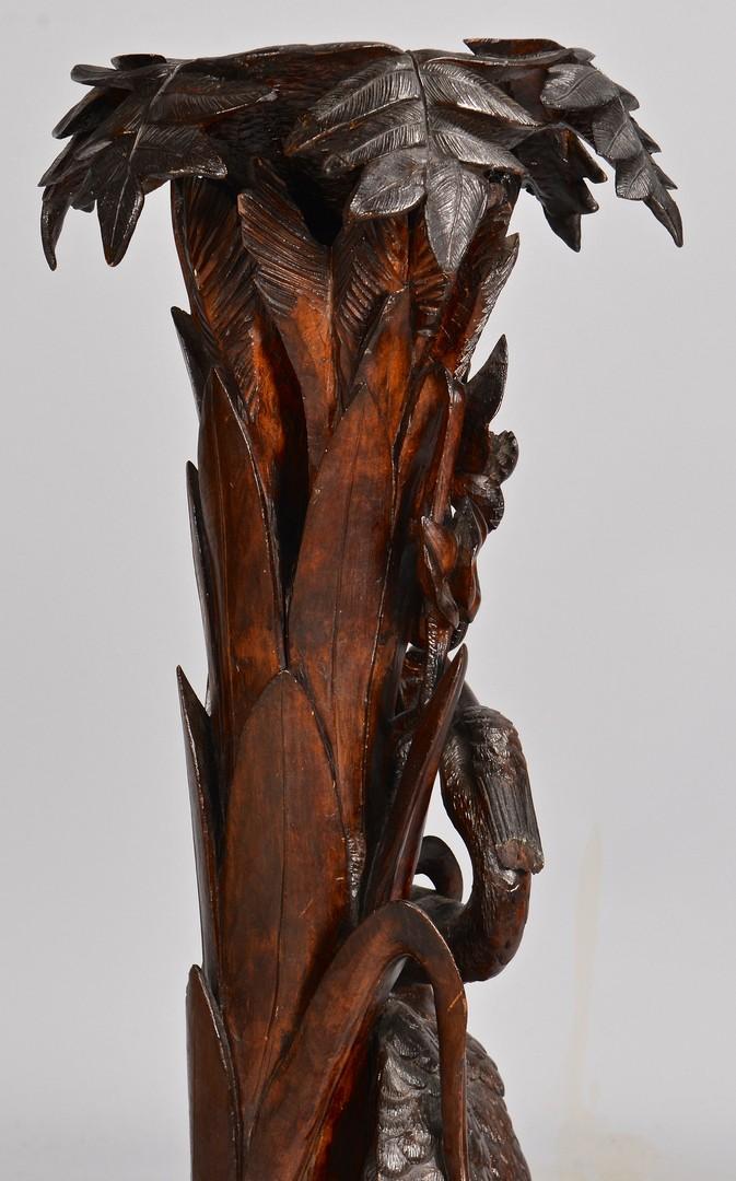 Lot 105: Carved Black Forest Fern Stand