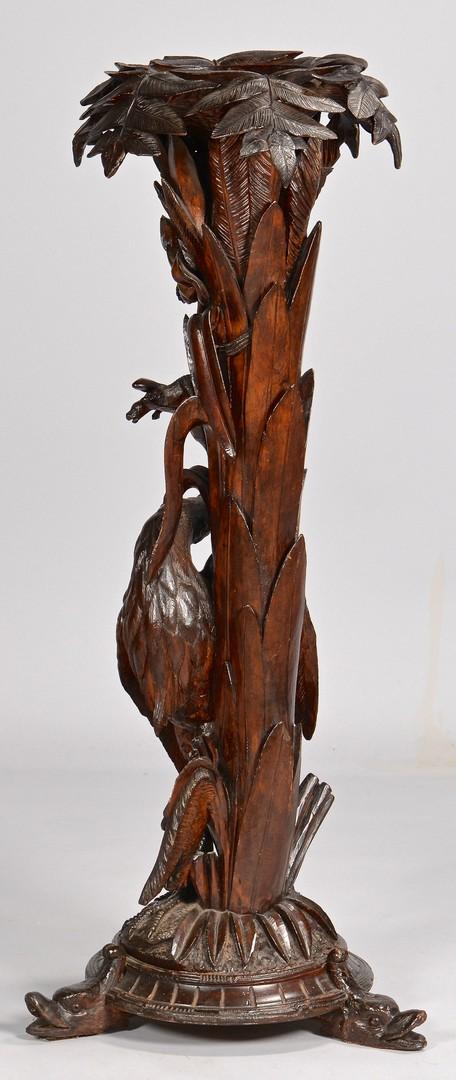 Lot 105: Carved Black Forest Fern Stand