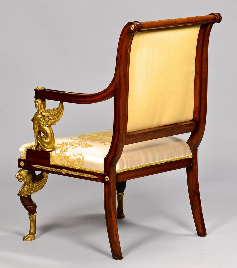 Lot 112: French Empire Armchair with Bronze Mounts