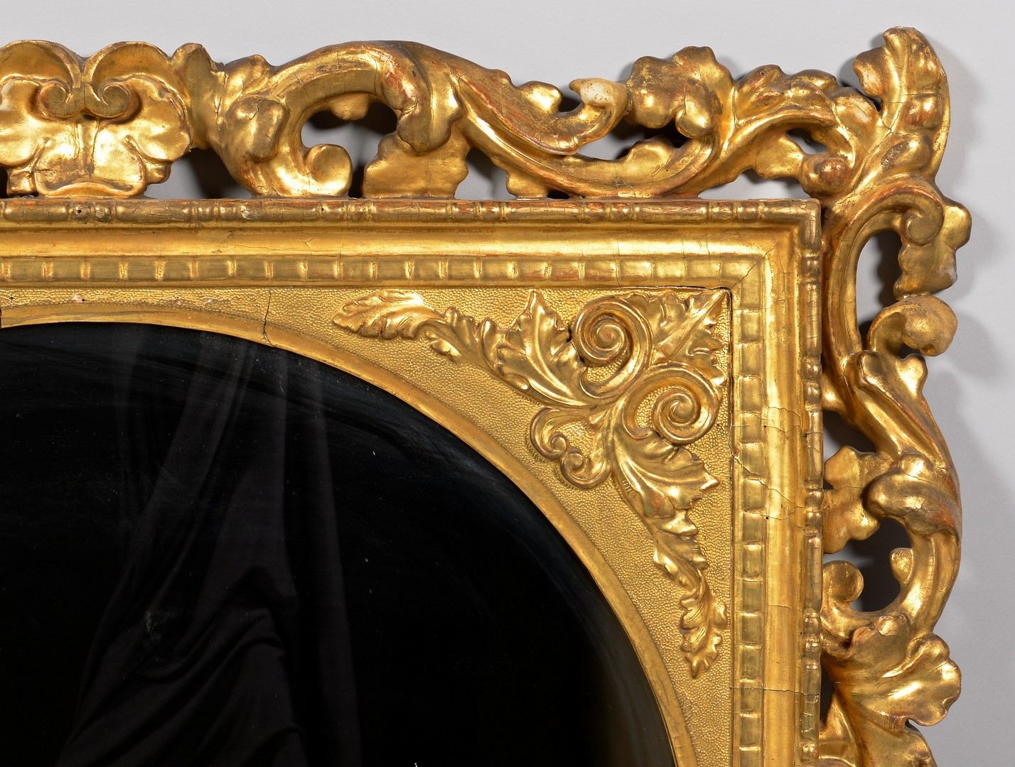 Lot 115: Large Gilt Carved Rococo Mirror, attrib. Italian