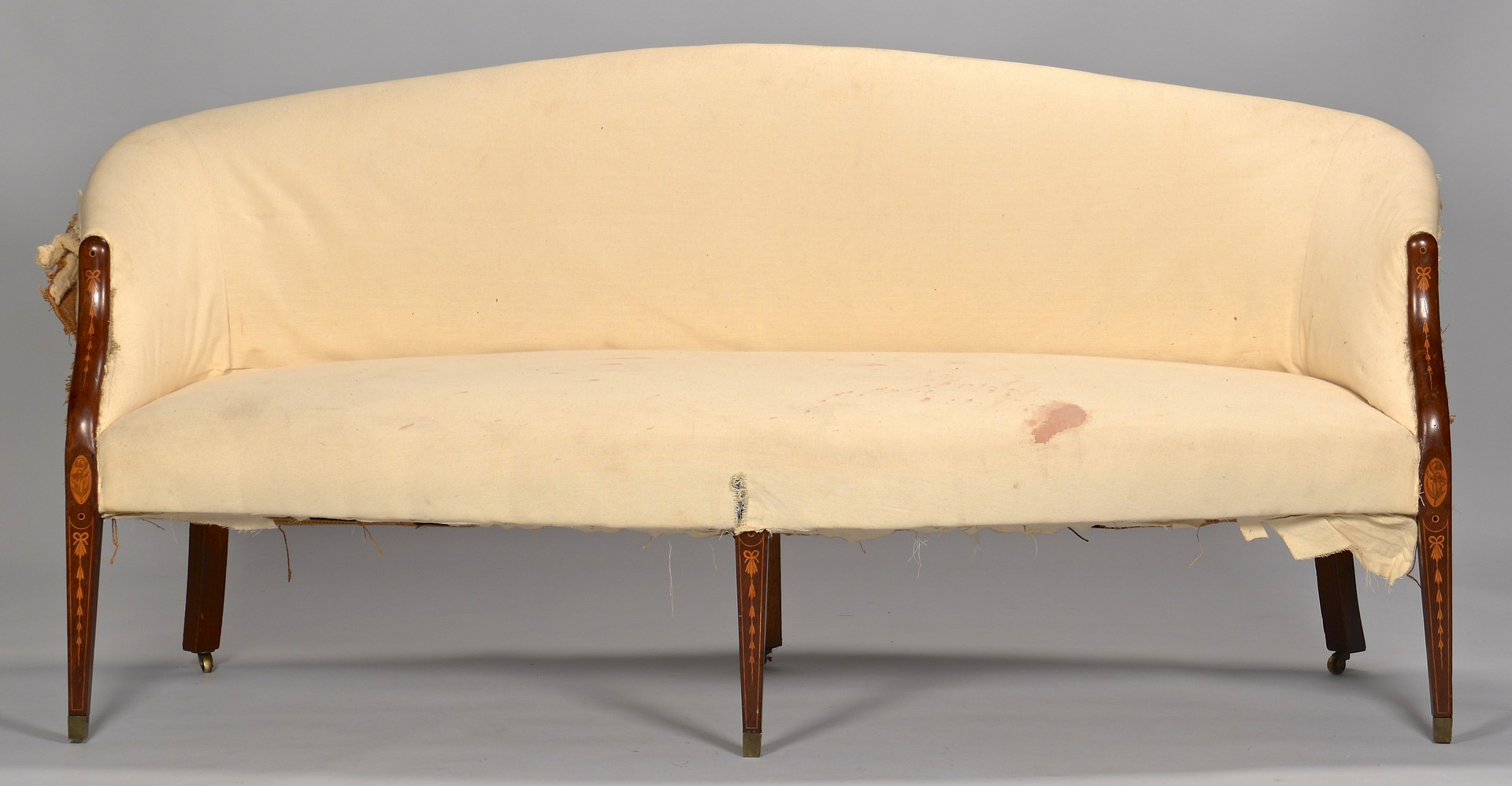 Lot 118: Federal Inlaid Cherry Sofa