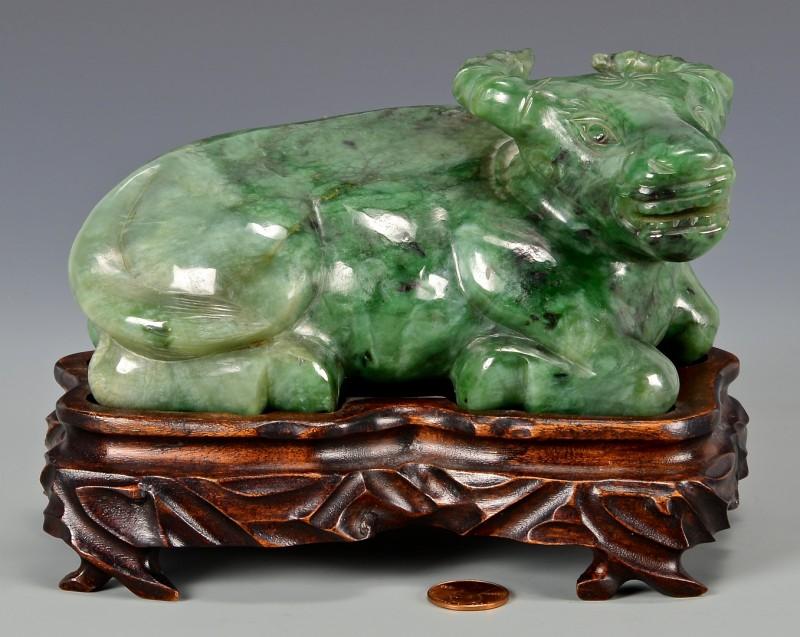 Lot 11: Nephrite Jade Water Buffalo