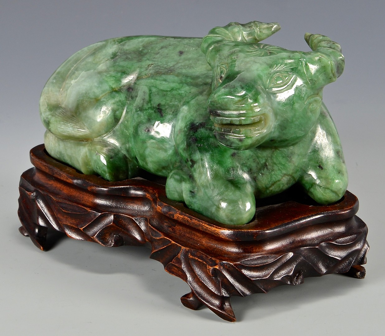 Lot 11: Nephrite Jade Water Buffalo