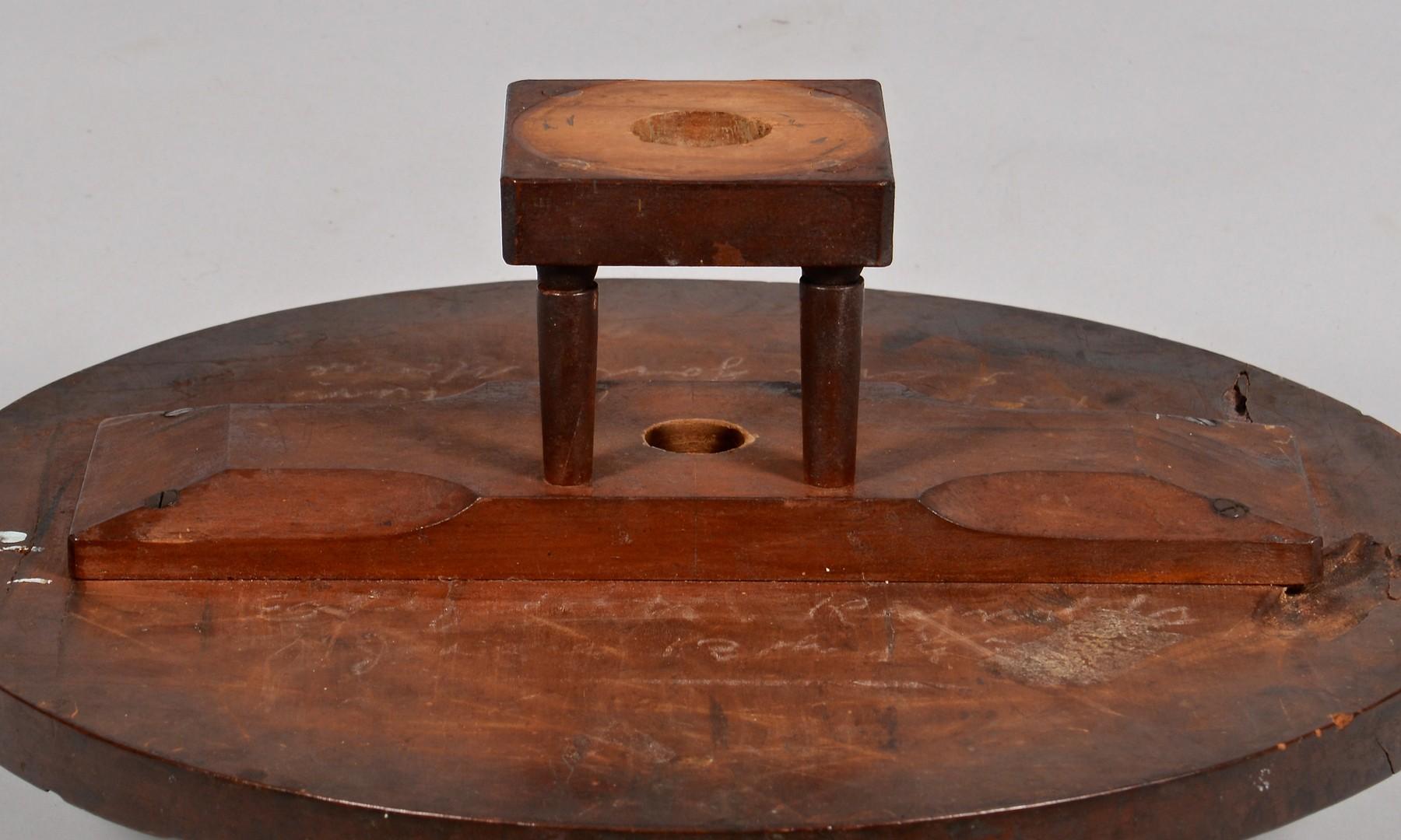 Lot 125: Kentucky Cherry Bird Cage Candlestand
